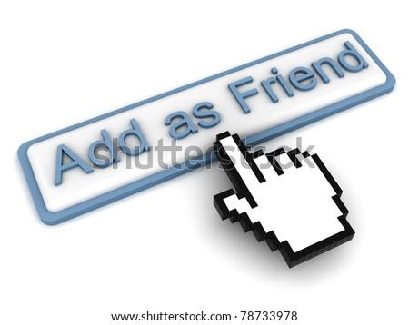 Add as Friend Button - stock photo