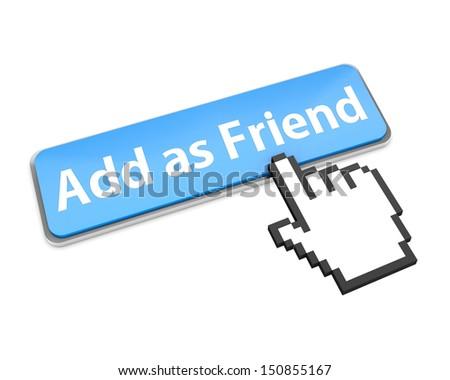 Add as friend button icon - stock photo