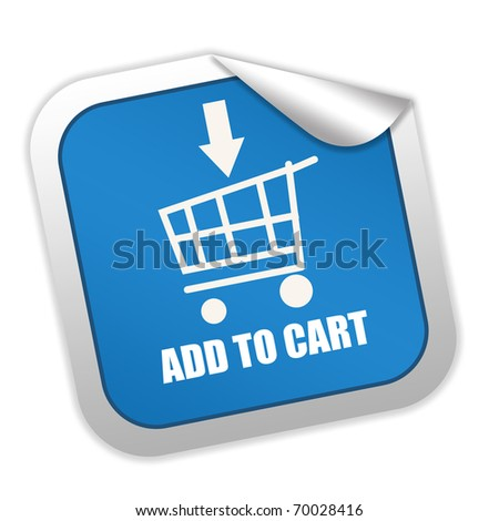 Add to cart label - stock photo