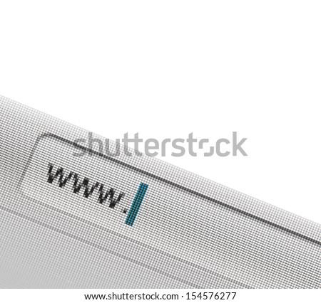 address bar on the screen - stock photo