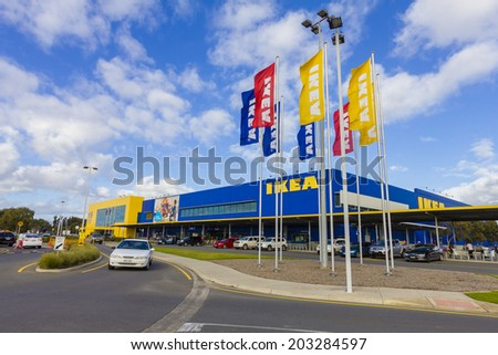 ADELAIDE, AUSTRALIA - JULY 6: IKEA store in Adelaide on 6 ...