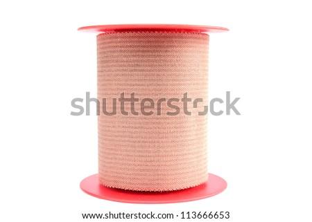 adhesive bandage isolated over white background - stock photo