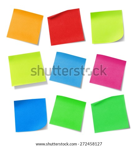 Adhesive note - stock photo