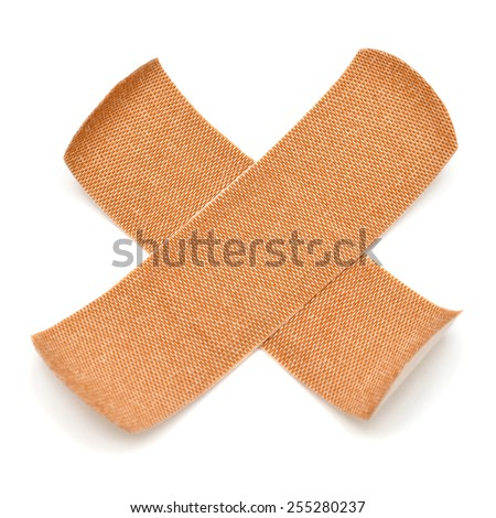 Adhesive plaster isolated on white background - stock photo