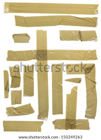 adhesive tape set, CLIPPING PATH included - stock photo