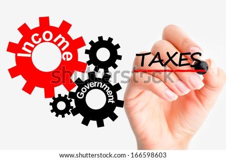 Adjust tax system - stock photo