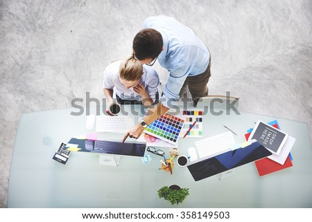 Administration Business Conference Working Document Concept - stock photo