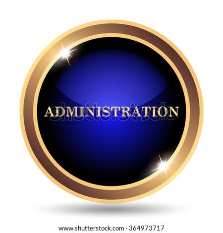 Administration icon. Internet button on white background.  - stock photo