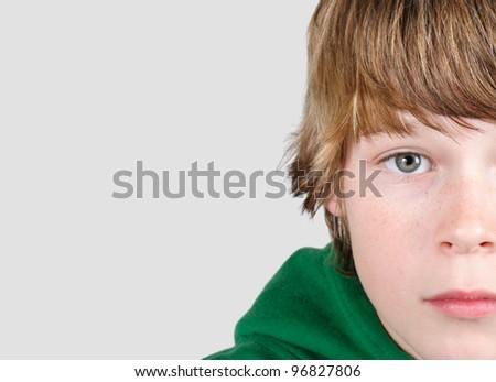 Adolescent  boy - stock photo