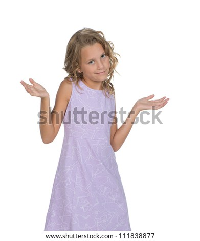 Adorable child questioning - stock photo