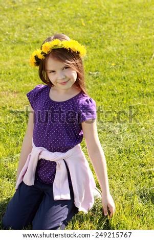Adorable girl outdoor - stock photo
