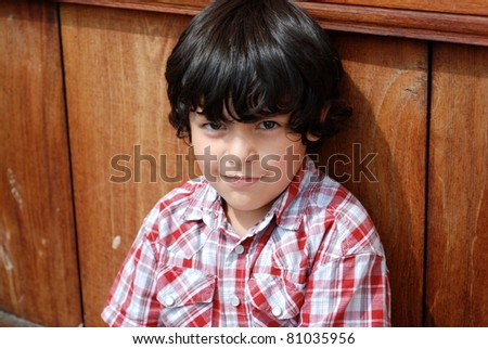 Adorable Hispanic boy - stock photo