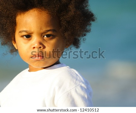 Adorable little African American Child - stock photo