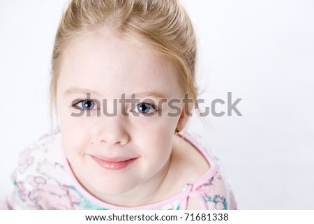 Adoralle cute girl - stock photo