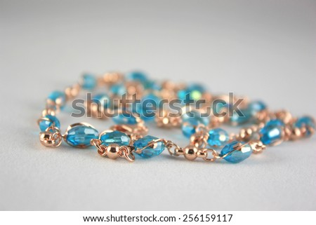 Adornment for woman, shallow DOF - stock photo