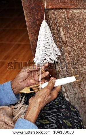 Adult Crochet Hand Asia Craft - stock photo