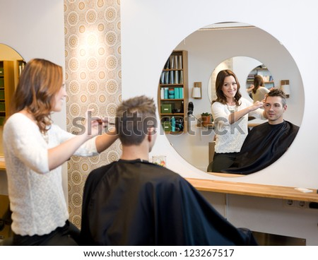 Adult man in a Beauty salon - stock photo