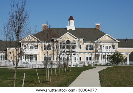 Adult Retirement Village Monroe New Jersey Entertainment Center - stock photo