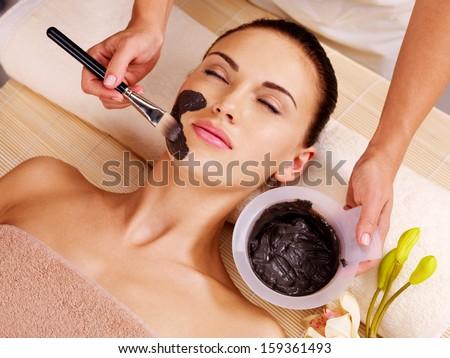 Adult woman having beauty treatments  in the spa salon - stock photo