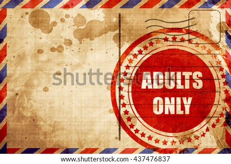 adults only sign - stock photo