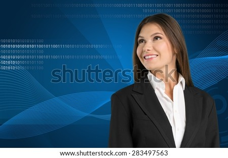 Advanced, business, businesswoman. - stock photo