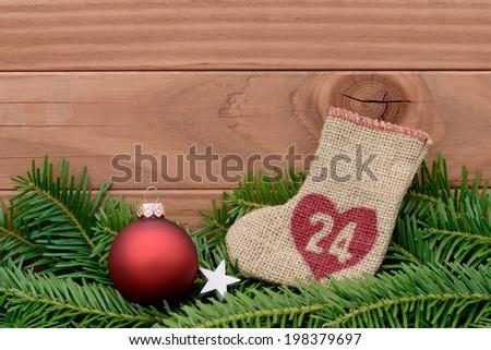 Advent calendar - stock photo