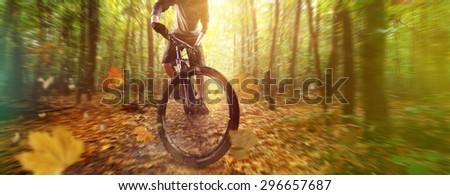 Adventure Biker - stock photo