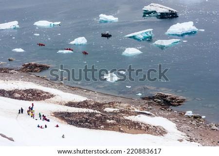 Adventure in Antarctica. - stock photo