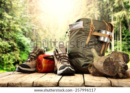 adventure in forest  - stock photo