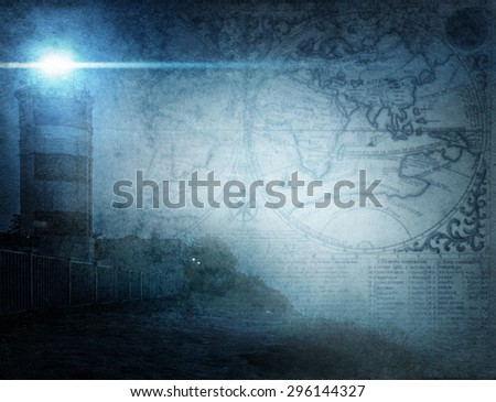 adventure stories background - stock photo