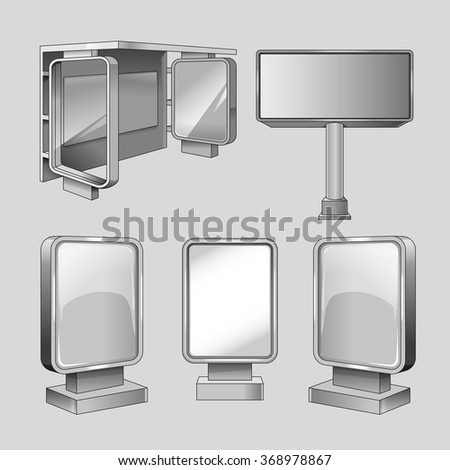 Advertise billboards templates - stock photo