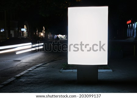 Advertise citylight with clear ad place - stock photo