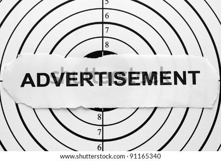 Advertisement target - stock photo