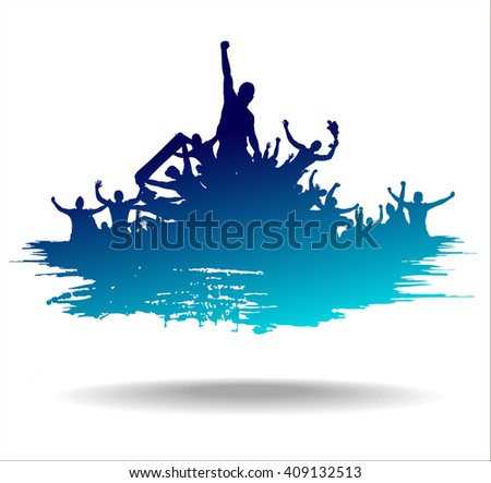 Advertising banner sports championships and concerts - stock photo