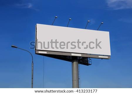 Advertising billboard template - stock photo