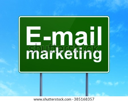 Advertising concept: E-mail Marketing on road sign background - stock photo