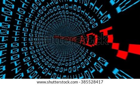 Advertising data tunnel - stock photo