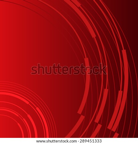 Advertising flyer party design elements. Red background with elegant graphic bright light circles. illustration for template brochure, layout leaflet, cafe menu card - stock photo