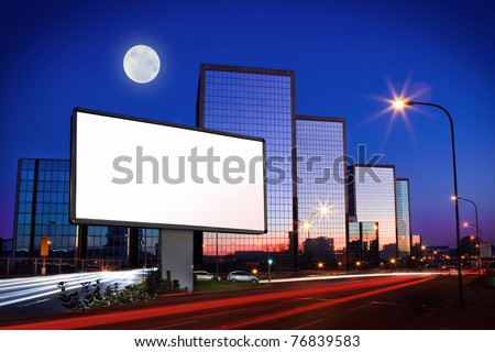 Advertising poster - stock photo