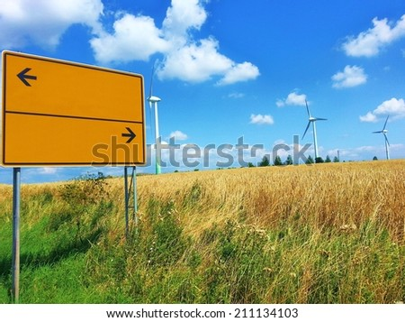 Advertising space on a roadsign - stock photo