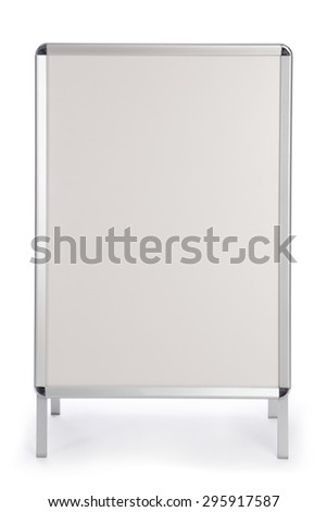 Advertising stand for placing images and texts - stock photo