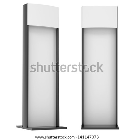Advertising stand. Isolated render on a white background - stock photo