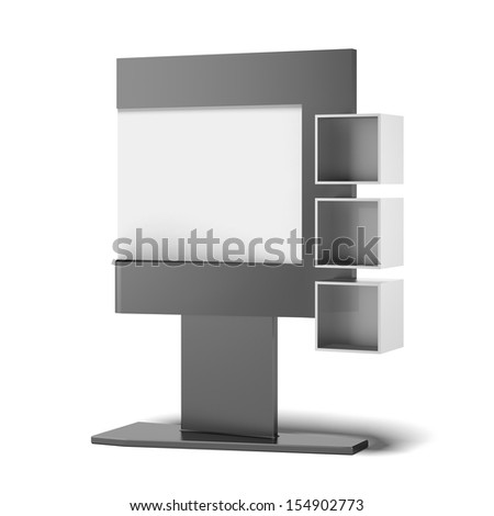 Advertising stand with sections - stock photo
