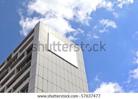 advertising wall in Berlin Germany - stock photo
