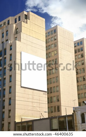advertising wall in the city - stock photo