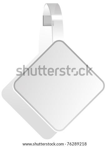 advertising White Paper wobbler - stock photo