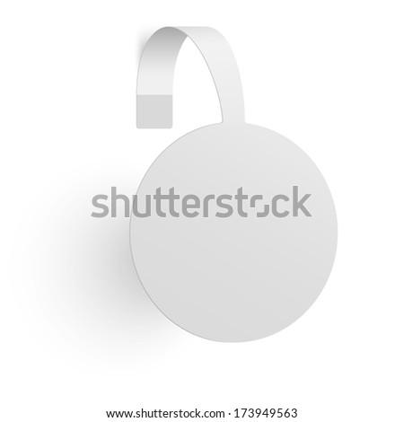 Advertising wobbler isolated on white background. Raster version illustration. - stock photo