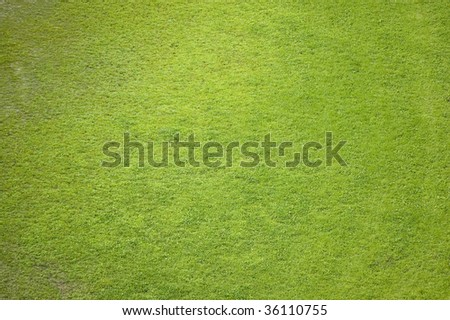 aeral of soccer (football) grass field  / natural background - stock photo