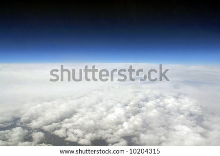 Aerial above the Pyrenees - stock photo