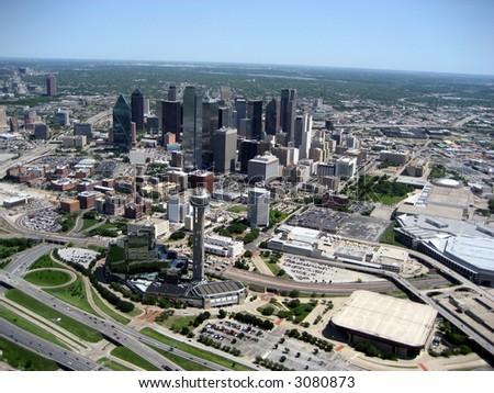 Aerial of Dallas 3 - stock photo